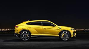 Bilder Lamborghini Seitlich Gelb 2018 Urus