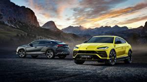 Hintergrundbilder Lamborghini Gelb Zwei 2018 Urus