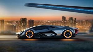 Wallpaper Lamborghini Side Terzo Millennio, Concept automobile