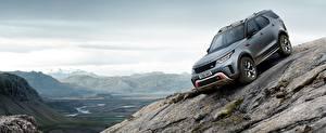 Hintergrundbilder Land Rover Graue 2018 Discovery SVX Autos