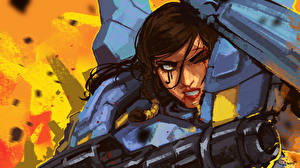 Pictures Overwatch pharah Games Girls