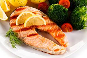 Images Seafoods Fish - Food Vegetables Salmon Food