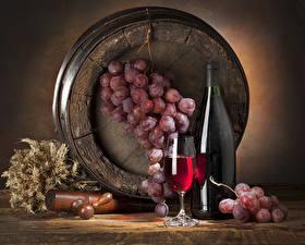 Images Still-life Barrel Wine Grapes Bottle Stemware Ear botany Food