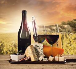 Bilder Stillleben Wein Käse Wurst Flasche Weinglas Zwei