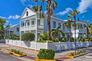 Hintergrundbilder USA Gebäude Florida Eigenheim Design Zaun Palmengewächse Key West Städte