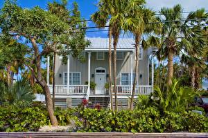 Hintergrundbilder Vereinigte Staaten Gebäude Florida Eigenheim Palmengewächse Key West