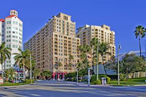 Hintergrundbilder Vereinigte Staaten Gebäude Florida Palmengewächse Palm Beach