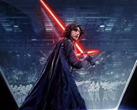 Pictures Warriors Star Wars: The Last Jedi Lightsaber Swords Kylo Ren, Adam Driver