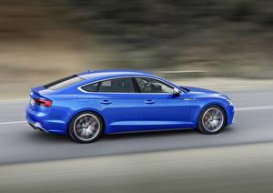Hintergrundbilder Audi Blau Seitlich Fährt S5 2018 Drive A5 Autos