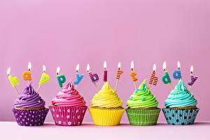 Hintergrundbilder Geburtstag Cupcake Kerzen Lebensmittel