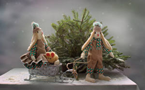 Images Branches Doll Two Sledge Winter hat