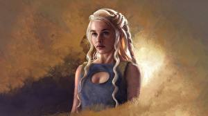 Hintergrundbilder Game of Thrones Daenerys Targaryen Gezeichnet Blond Mädchen Fanart Mädchens