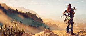 Hintergrundbilder Horizon Zero Dawn Krieger Spiele 3D-Grafik Mädchens