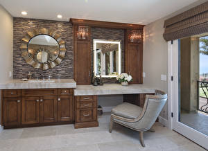 Pictures Interior Design Bathroom Wing chair Mirror