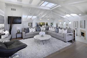 Photo Interior Design Living room Rug Sofa Pillows Ceiling