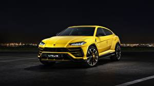 Photo Lamborghini Yellow Urus 2018 Cars