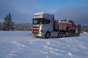 Pictures Scania Lorry Snow