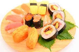 Fotos Meeresfrüchte Sushi Rogen Fische - Lebensmittel
