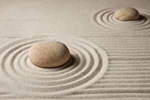 Fonds d'écran Pierres Sable Cercles zen