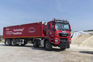 Wallpaper Trucks Red  auto