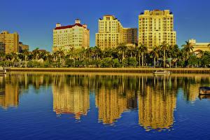 Bilder Vereinigte Staaten Küste Gebäude Florida Palmengewächse Palm Beach