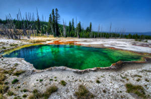 Fotos USA Park See Yellowstone Natur