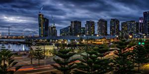 Fondos de escritorio Australia Melbourne Casa Tarde Farola Ciudades