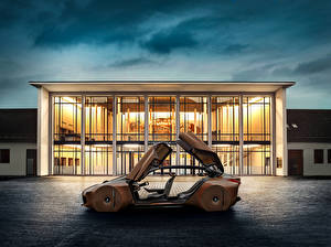 Hintergrundbilder BMW Seitlich Braune Metallisch 2016 Vision Next 100 auto