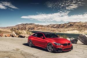 Hintergrundbilder BMW Rot M4 Autos