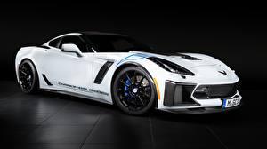 Image Chevrolet White Carbon 65 Edition 2018 Geiger Corvette Z06 automobile