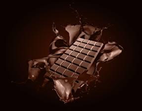 Bakgrunnsbilder Sjokolade Sjokoladeplate Vannet sprut