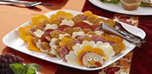 Fonds d'écran Cookies Saucisson Smilies Assiette Design Nourriture