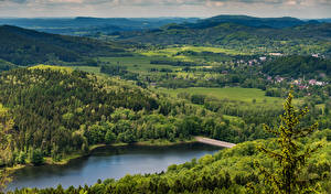 Image Czech Republic Forests Rivers Hill Nature