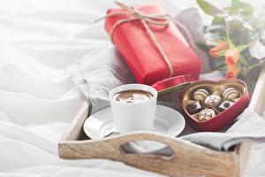 Papéis de parede Feriados Café Bala (doce) Chávena Presentes Coração Alimentos