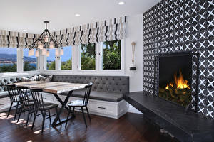 Images Interior Design Lounge sitting room Fireplace Chandelier Chairs Couch