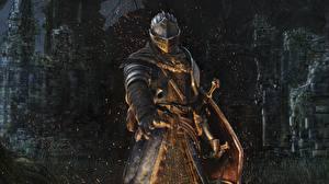 Hintergrundbilder Ritter Dark Souls Krieger Rüstung Helm Spiele Fantasy