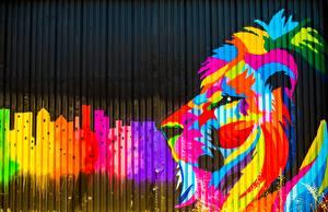 Photo Lion Graffiti