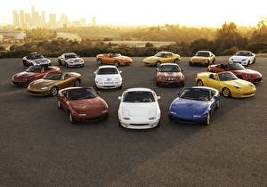 Wallpaper Mazda Many Convertible MX-5 automobile