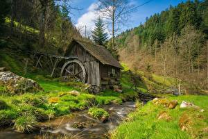 Fotos Bach Gras Wassermühle