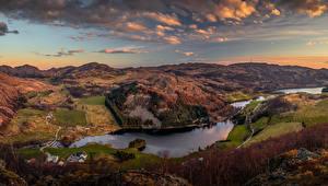 Hintergrundbilder Norwegen Landschaftsfotografie Flusse Acker Hügel Wolke Rogaland Natur
