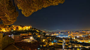 Tapety na pulpit Portugalia Domy Lizbona Miasto