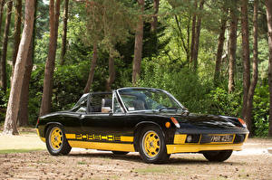 Fotos Antik Porsche Schwarz Metallisch Roadster 1974 914 Limited Edition Autos