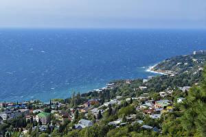 Bilder Russland Krim Meer Küste Haus Alupka Städte