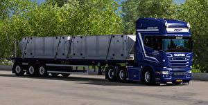 Picture Scania Trucks Blue 3D_Graphics