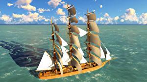 Bilder Meer Schiffe Segeln