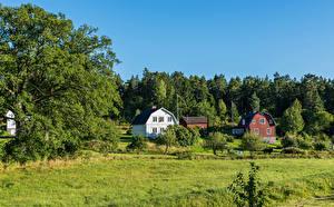 Hintergrundbilder Schweden Stockholm Gebäude Gras Natur