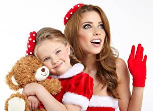 Hintergrundbilder Teddybär Kleine Mädchen Lächeln kind Mädchens