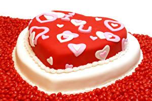 Fotos Valentinstag Süßigkeiten Torte Bonbon Design Herz