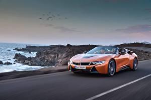 Bilder BMW Orange Bewegung Roadster 2018 i8 Autos