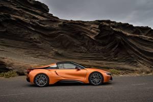 Pictures BMW Orange Side Roadster 2018 i8 Cars